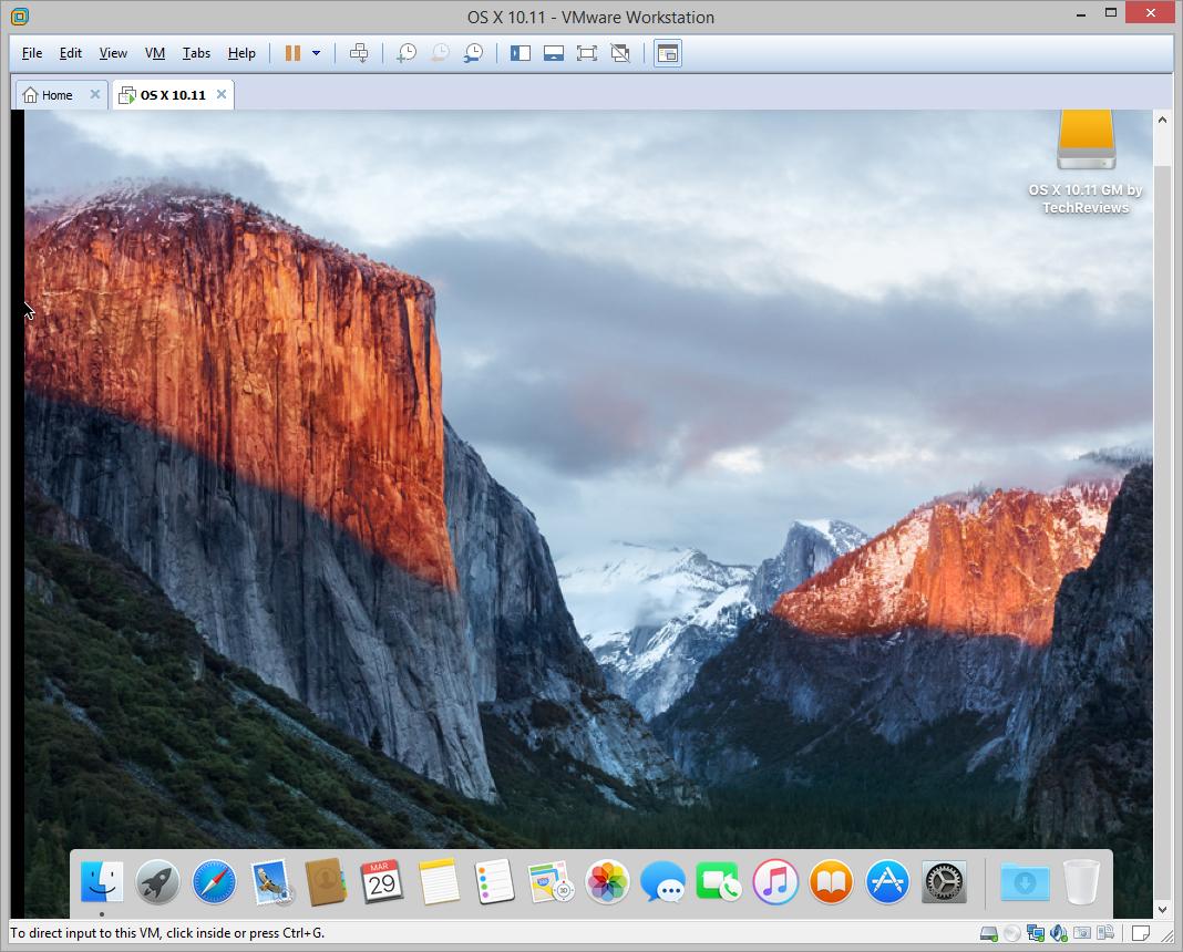 تثبيت نظام التشغيل Mac OS X 10.11 El Capitan على برنامج VMWare