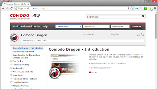 متصفح Comodo Ice Dragon وComodo Dragon
