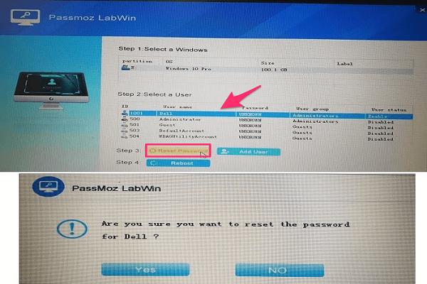 تحميل برنامج PassMoz LabWin لاستعادة كلمة سر مستخدم الكمبيوتر