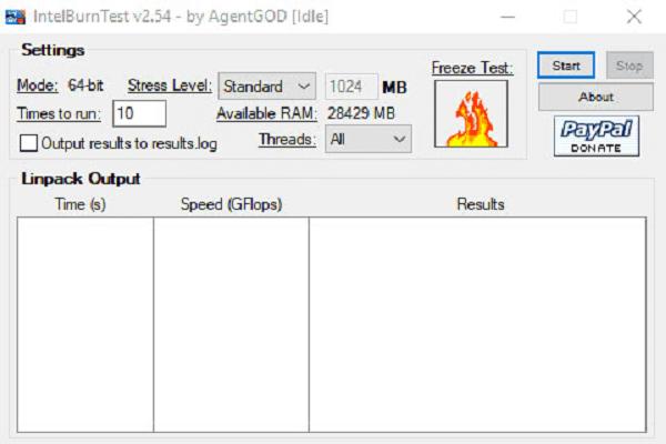 تحميل برنامج IntelBurnTest لقياس درجة حرارة الحاسوببرابط مباشر