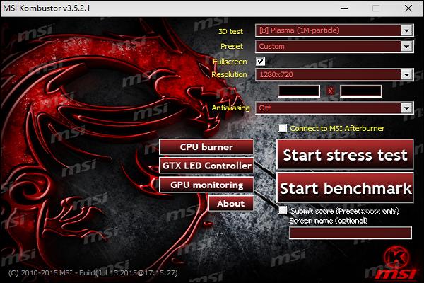 تحميل برنامج MSI Kombustor لإختبار أداء كارت الشاشة للكمبيوتر