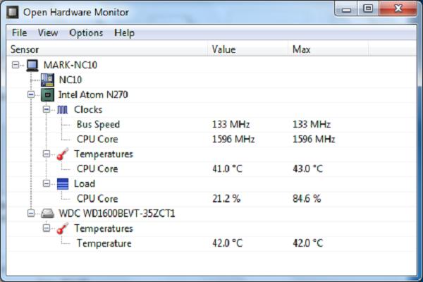 تحميل برنامج Open Hardware Monitor لمراقبة اداء الكمبيوتر