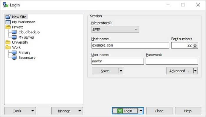 تحميل برنامجWinSCP لنقل الملفات للشبكة للحاسوب برابط مباشر