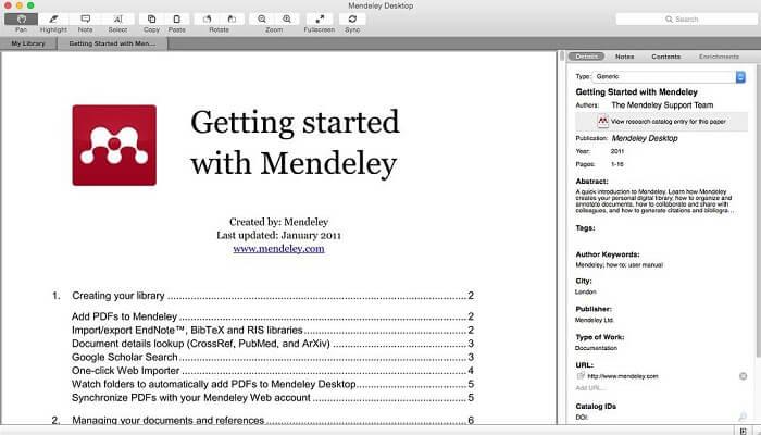 تحميل برنامجMendeley Desktop لإدارة المراجع الأكاديمية للكمبيوتر
